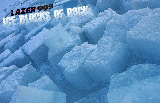 Ice Blocks of Rock!