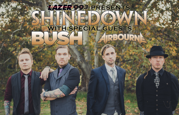 Shinedown with special guests Bush and Airbourne