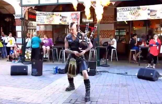 Flaming Bagpipes!