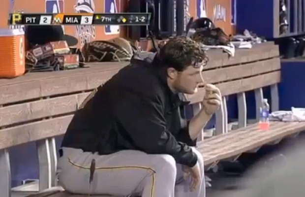Pirates Player Picks Nose and Eats It?!!!??