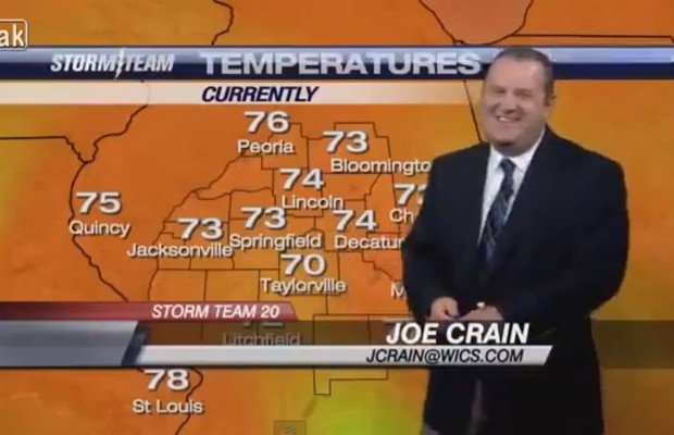 Weatherman Can't Stop Laughing
