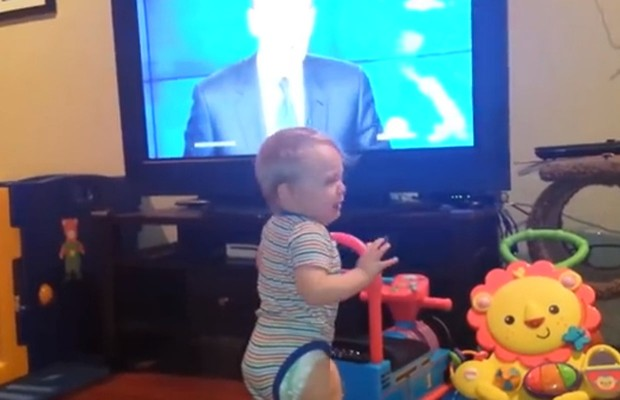 Baby HATES Brian Williams